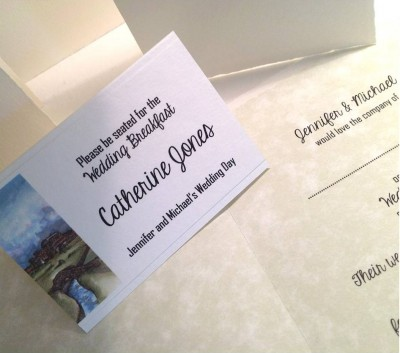 Swilcan Bridge, The Old Course, St.Andrews, Fife. Place card and  invitation insert.